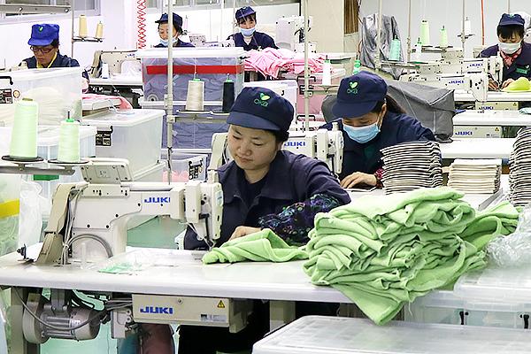 中国の自社工場での生産